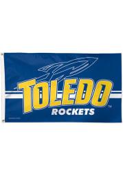 Toledo Rockets 3x5 Blue Silk Screen Grommet Flag