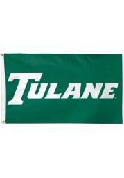 Tulane Green Wave 3x5 Green Silk Screen Grommet Flag