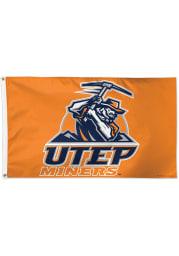 UTEP Miners 3x5 Blue Silk Screen Grommet Flag
