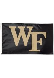 Wake Forest Demon Deacons 3x5 Black Silk Screen Grommet Flag