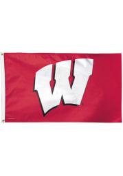 Wisconsin Badgers 3x5 Cardinal Silk Screen Grommet Flag