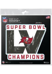 Tampa Bay Buccaneers Super Bowl LV Champions 6x6 Magnet