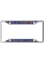 Illinois Fighting Illini Metallic Inlaid License Frame