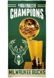 Milwaukee Bucks 2021 NBA Finals Champions 30x60 Spectra Beach Towel