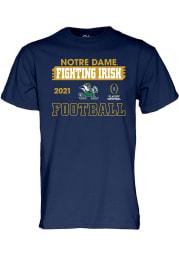 Notre Dame Fighting Irish Navy Blue 2020 College Football Playoff Bound Short Sleeve T Shirt