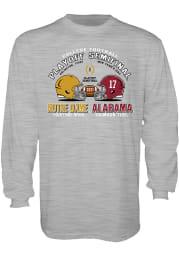 Notre Dame Fighting Irish Grey 2020 College Football Playoff Bound Long Sleeve T Shirt