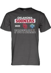 Oklahoma Sooners Charcoal 2020 Cotton Bowl Bound Short Sleeve T Shirt