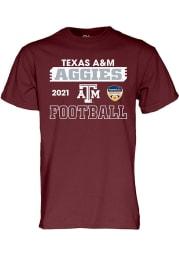 Texas A&M Aggies Maroon 2020 Orange Bowl Bound Short Sleeve T Shirt