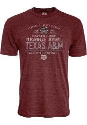 Texas A&M Aggies Maroon 2020 Orange Bowl Bound Short Sleeve Fashion T Shirt