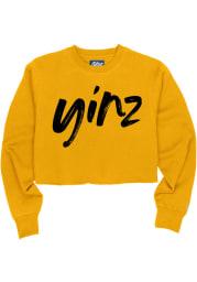 Pittsburgh Womens Gold Yinz Crew Sweatshirt