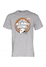 Texas Longhorns Grey Alamo Bowl Bound 2020 Short Sleeve T Shirt
