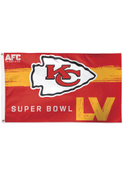 Kansas City Chiefs Super Bowl LV Bound 3x5 Deluxe Red Silk Screen Grommet Flag