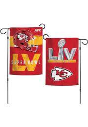 Kansas City Chiefs Super Bowl LV Bound 2 Sided Garden Flag