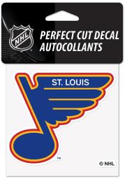 St Louis Blues Reverse Retro Logo Auto Decal - Blue
