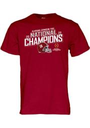 Alabama Crimson Tide Cardinal 2020 Football National Champions Short Sleeve T Shirt