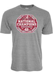 Alabama Crimson Tide Grey 2020 Football National Champions Short Sleeve Fashion T Shirt