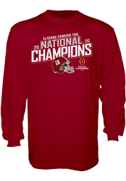 Alabama Crimson Tide Cardinal 2020 Football National Champions Long Sleeve T Shirt
