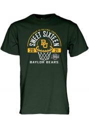 Baylor Bears Green 2021 Sweet Sixteen Short Sleeve T Shirt