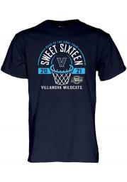 Villanova Wildcats Navy Blue 2021 Sweet Sixteen Short Sleeve T Shirt