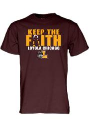 Loyola Ramblers Maroon Loyola Tournament Short Sleeve T Shirt