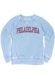 Philadelphia Womens Light Blue Arch Wordmark Crew Sweatshirt