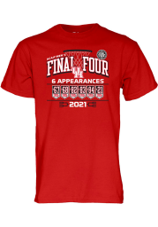 Houston Cougars Red 2021 Final Four Short Sleeve T Shirt