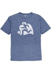 Xavier Musketeers Blue Big Logo Short Sleeve Fashion T Shirt