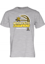 Wichita State Shockers Grey AAC Conference Champions Short Sleeve T Shirt