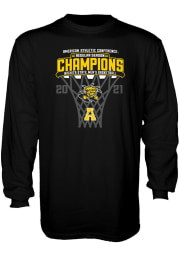 Wichita State Shockers Black AAC Conference Champions Long Sleeve T Shirt