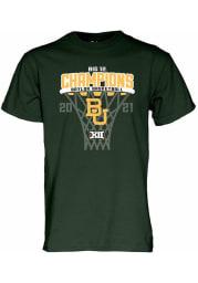 Baylor Bears Green 2020-2021 Big 12 Champions Short Sleeve T Shirt