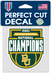 Baylor Bears 2021 National Champions 4X4 Auto Decal - Green