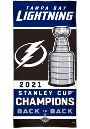 Tampa Bay Lightning 2021 Stanley Cup Champion Beach Towel