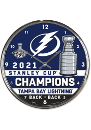 Tampa Bay Lightning 2021 Stanley Cup Champion Chrome Wall Clock