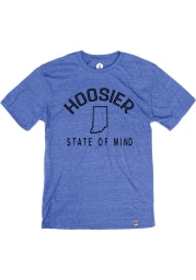 Rally Indiana Blue Hoosier State of Mind Short Sleeve Fashion T Shirt