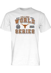 Texas Longhorns White 2021 College World Series Bound Short Sleeve T Shirt