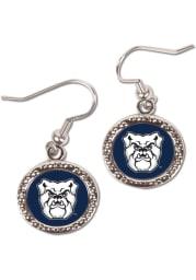Butler Bulldogs Hammered Dangle Womens Earrings