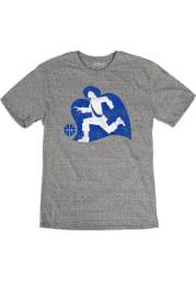 Xavier Musketeers Grey Throwback Big Logo Short Sleeve Fashion T Shirt