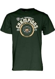 Ohio Bobcats Green 2021 Conference Tournament Champions Short Sleeve T Shirt