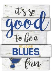 St Louis Blues birch Sign