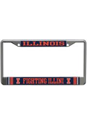 Illinois Fighting Illini Printed Metallic License Frame