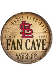 St Louis Cardinals round fan cave Sign