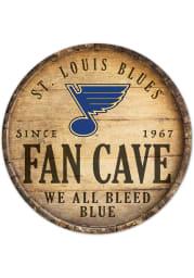St Louis Blues round fan cave Sign