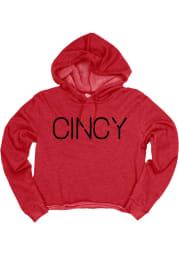 Cincinnati Womens Red Cincy Hooded Sweatshirt