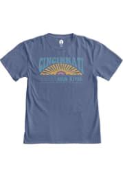 Rally Cincinnati Womens Blue Daydreamer Short Sleeve T-Shirt