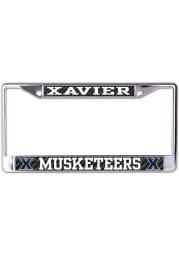Xavier Musketeers Carbon Fiber License Frame