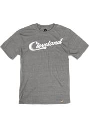 Rally Cleveland Grey Sign Wordmark Short Sleeve Fashion T Shirt
