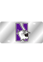 Northwestern Wildcats Team Logo Inlaid Car Accessory License Plate