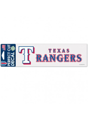 Texas Rangers 3x10 Perfect Cut Auto Decal - Red