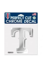 Texas Rangers Chrome Auto Decal - Silver