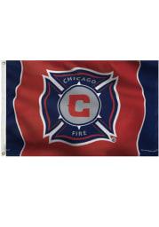 Chicago Fire Deluxe Grommet Blue Silk Screen Grommet Flag